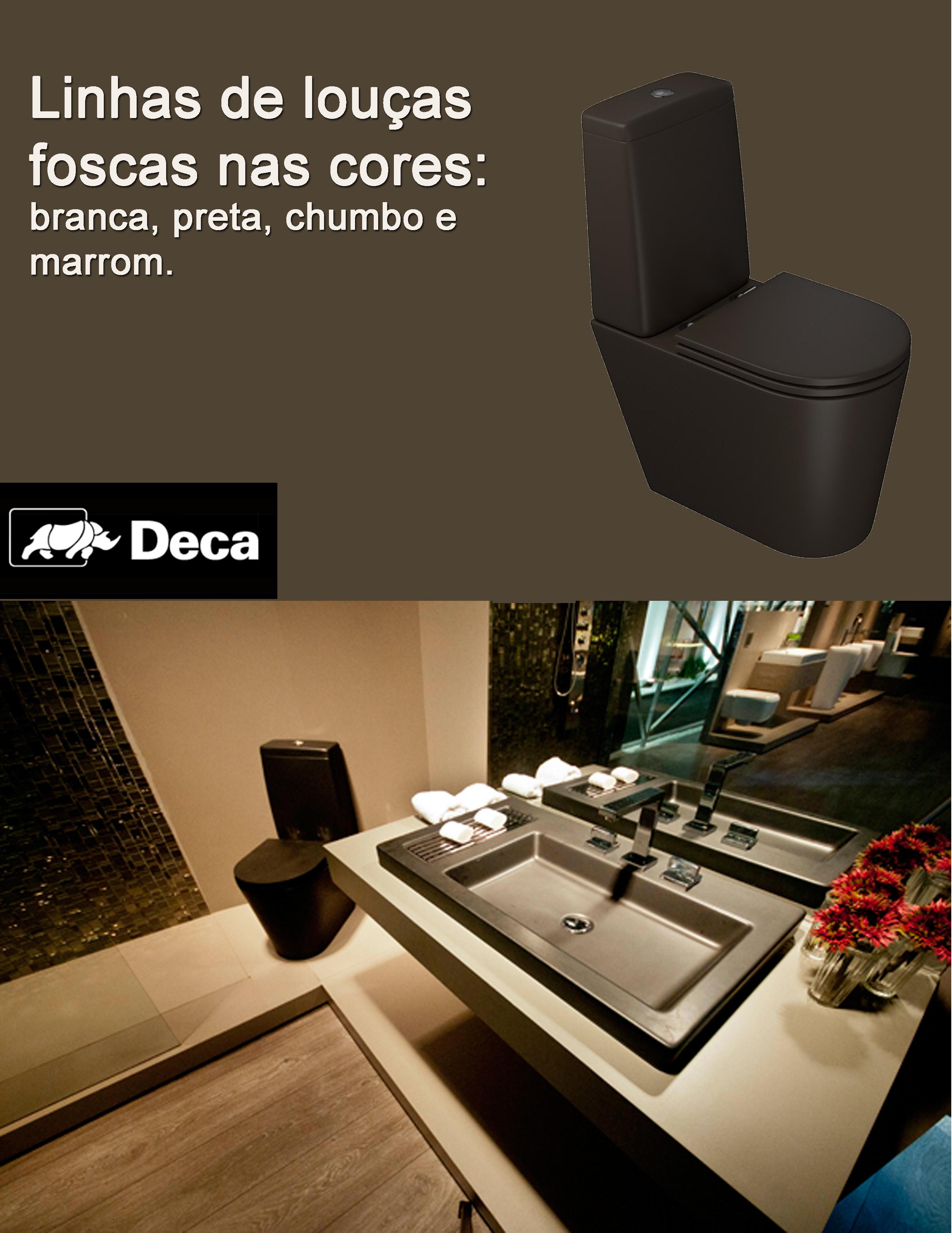 Linhas de louças com cores diferenciadas foscas nas cores preto  #09475F 2550x3300 Acessorios Banheiro Roca