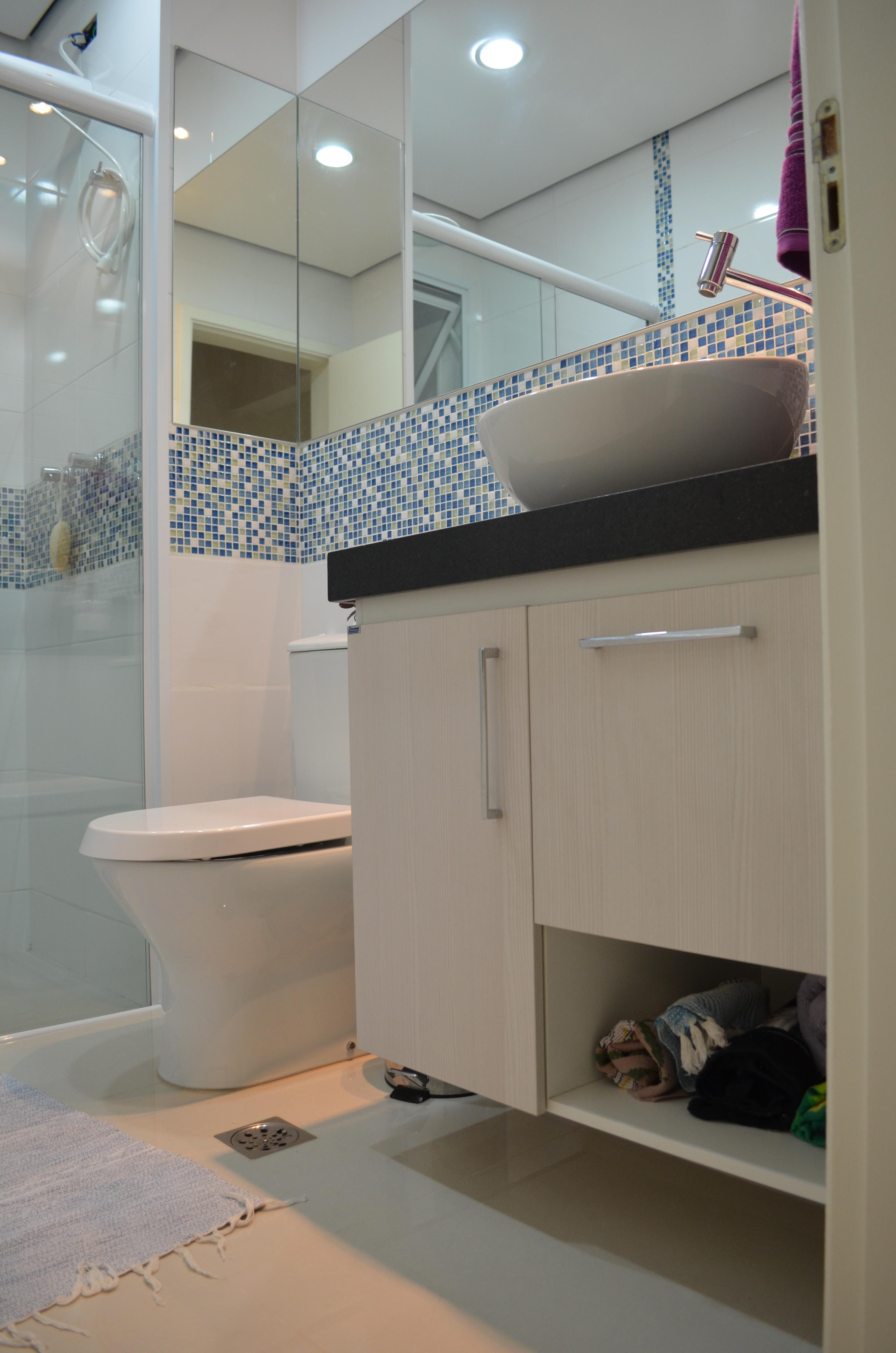 Projeto de interiores – reforma do banheiro apartamento em Mogi das #7D624E 3264 4928